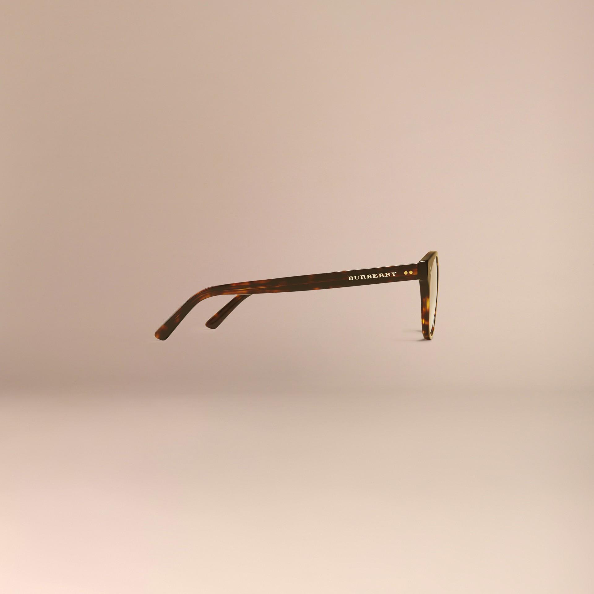 Écaille de tortue Monture ronde pour lunettes de vue Écaille  Tortue - photo de la galerie 5