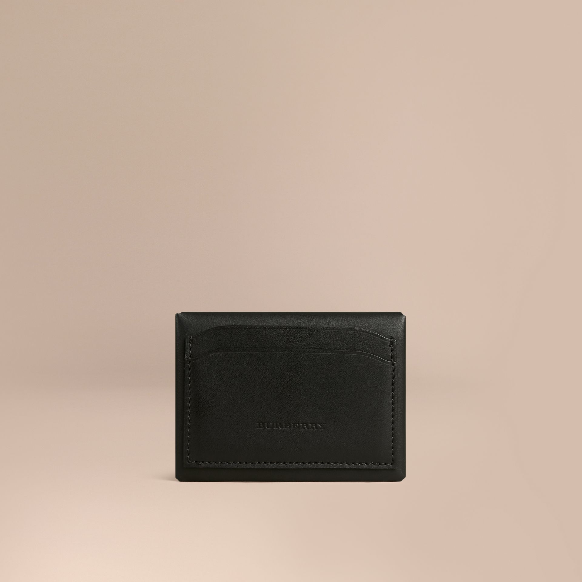 Black Leather Coin Case Black - gallery image 2