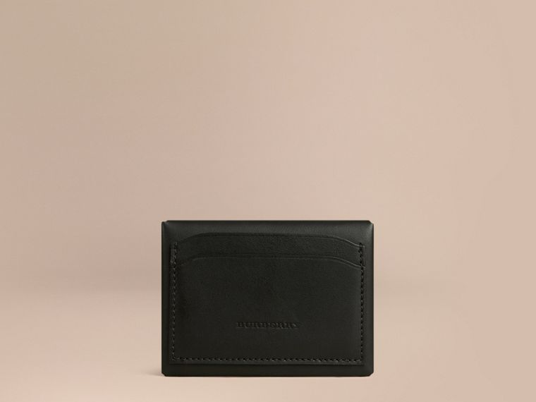 Black Leather Coin Case Black - cell image 1