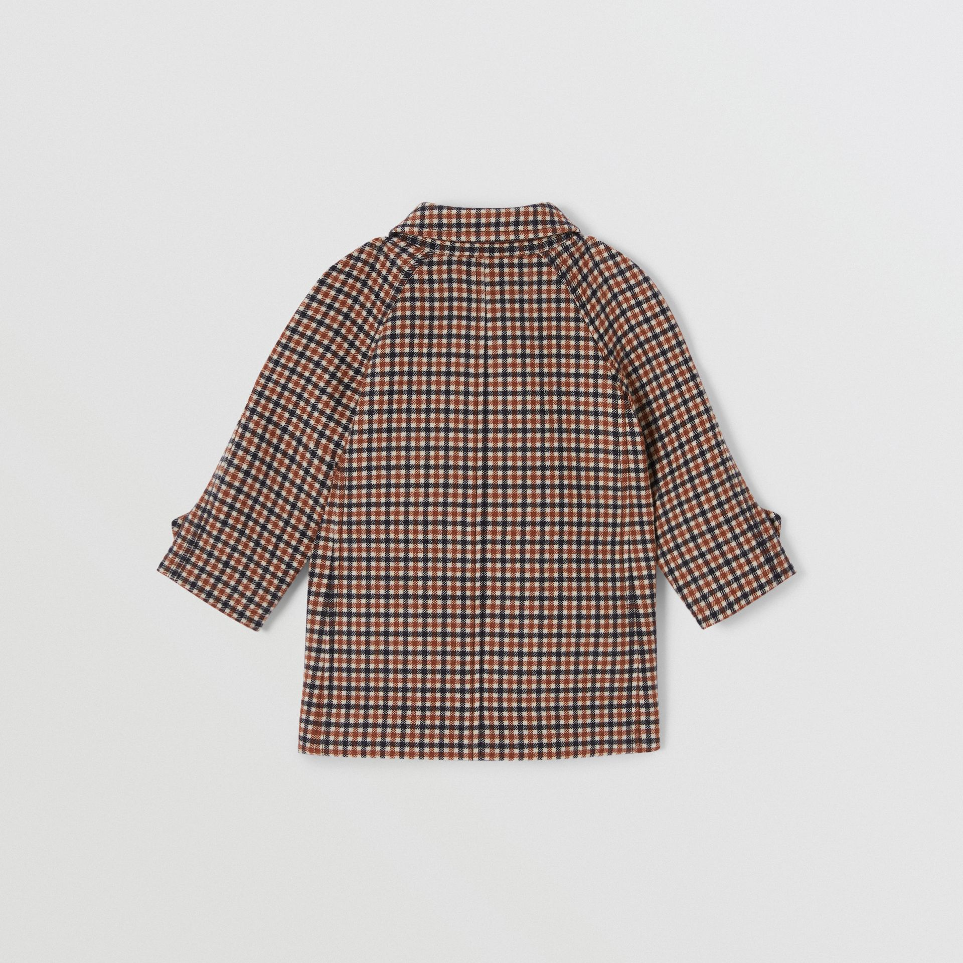 Check Wool Coat in Rust Brown - Children | Burberry - gallery image 3