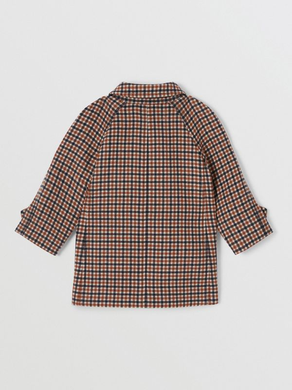 Check Wool Coat in Rust Brown - Children | Burberry - cell image 3