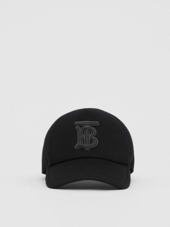 모노그램 모티프 네오프렌 야구 모자 (블랙)