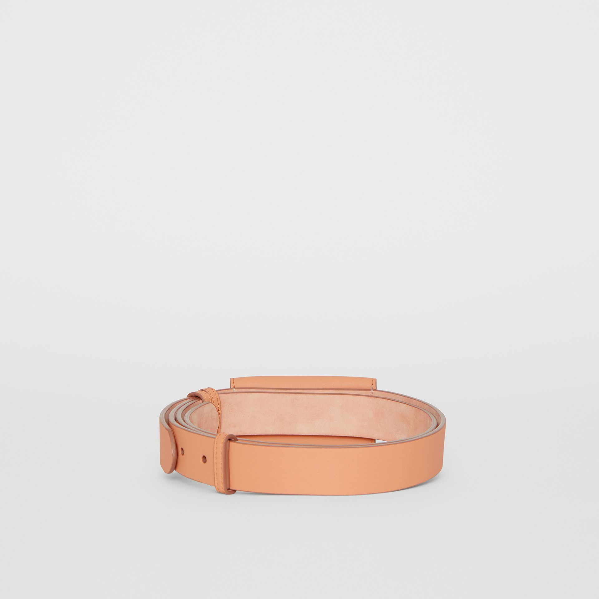 Envelope Detail Leather Belt in Pale Brick - Women | Burberry - gallery image 4