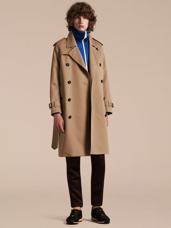 Raglan-sleeved Cotton Trench Coat