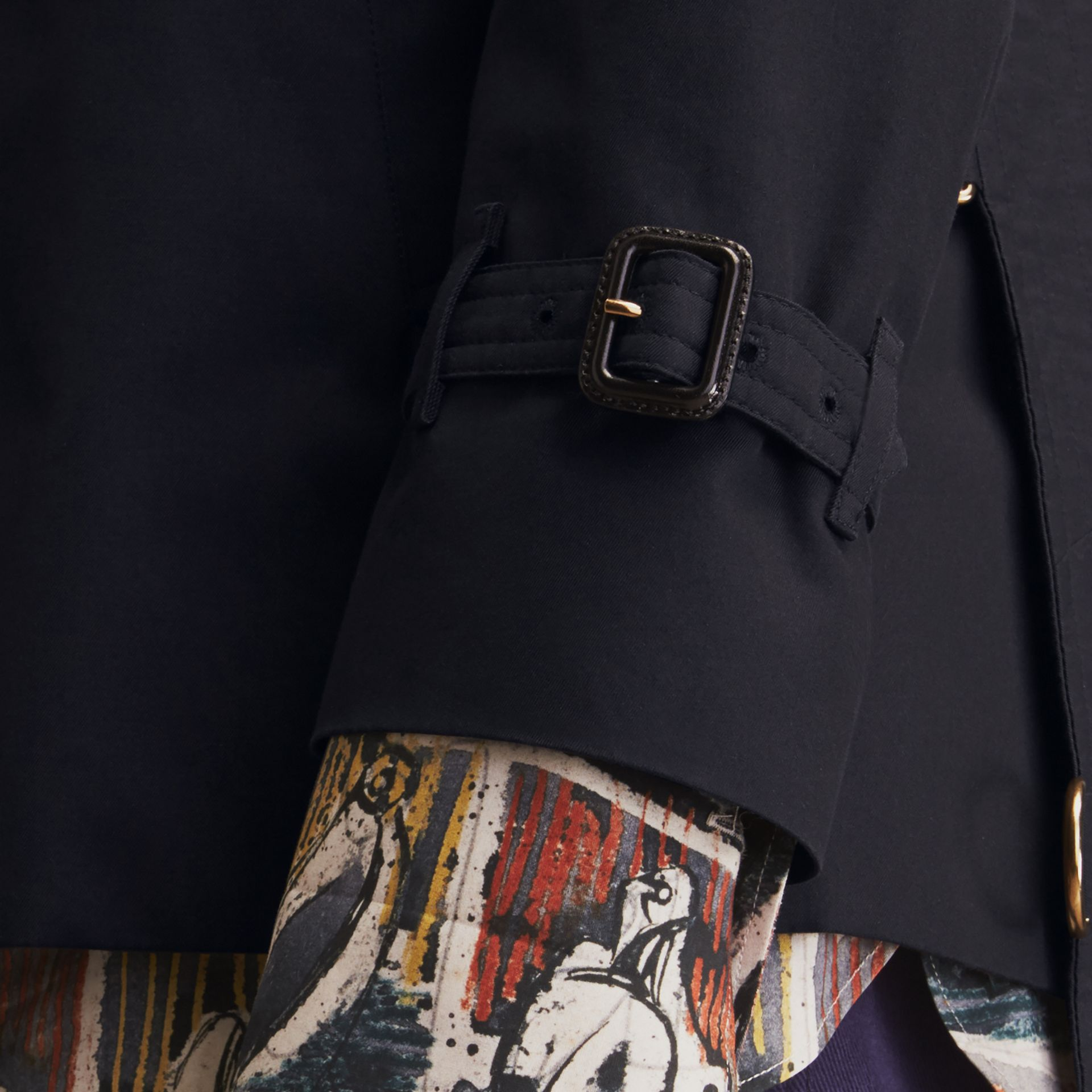 The Sandringham – Short Heritage Trench Coat Navy - gallery image 7