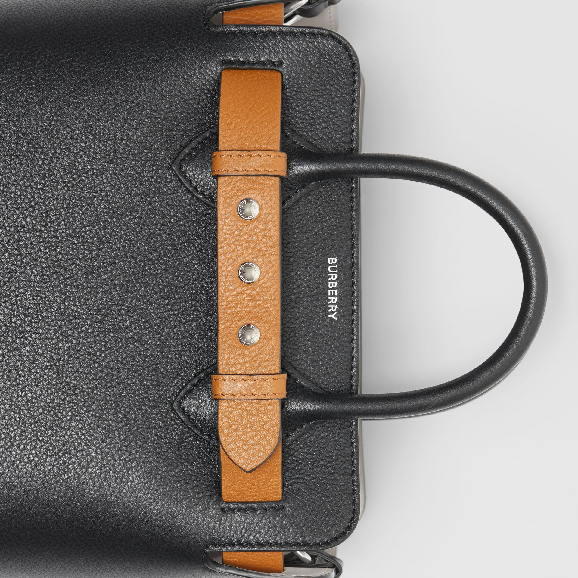The Mini Leather Triple Stud Belt Bag in Black - Women | Burberry - gallery image 1