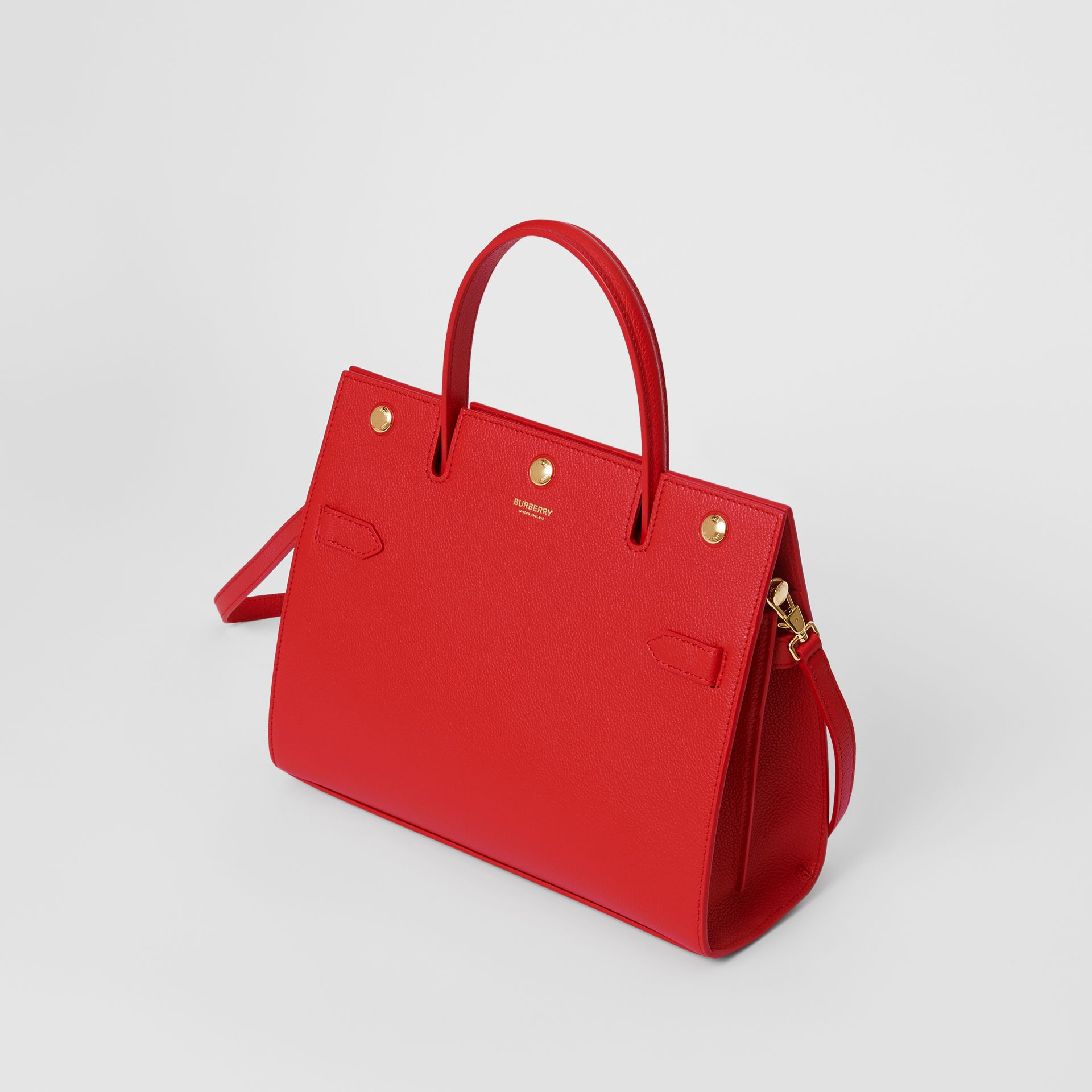 Small Leather Title Bag in Bright Red - Women | Burberry - gallery image 3