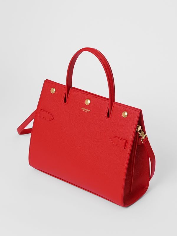 Small Leather Title Bag in Bright Red - Women | Burberry - cell image 2