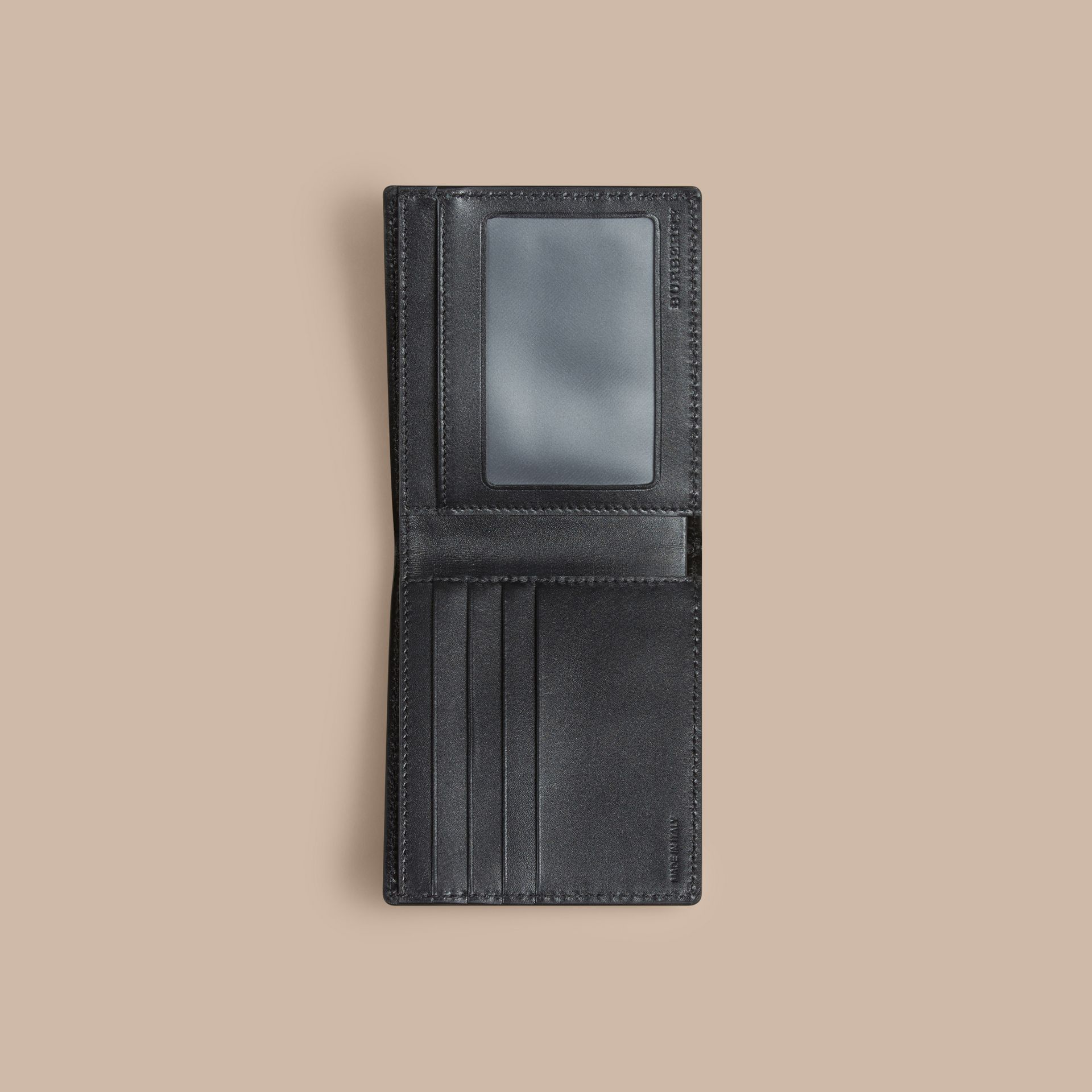 Black London Leather ID Wallet Black - gallery image 4