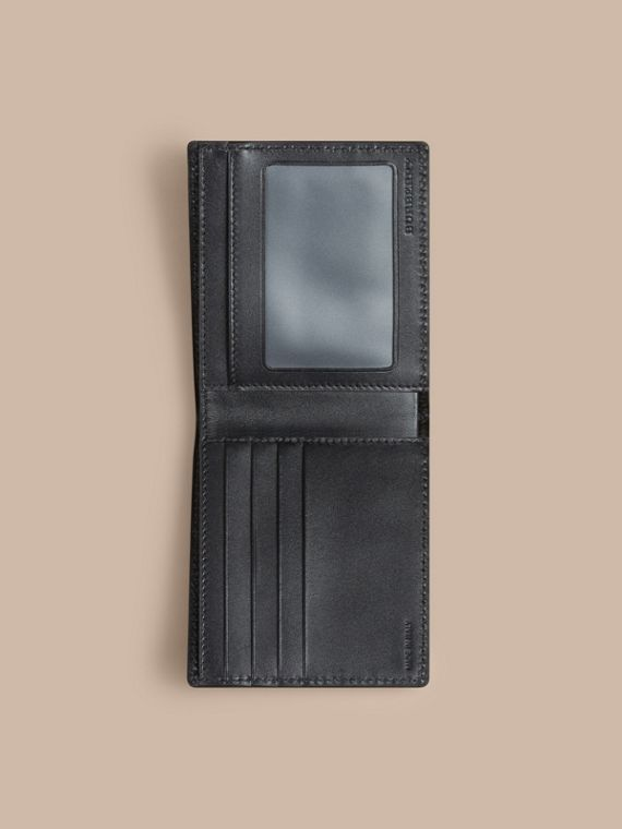 London Leather ID Wallet in Black - Men | Burberry - cell image 3