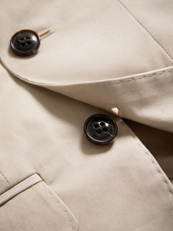 Tailored Stretch Cotton Blazer in Stone | Burberry - cell image 1