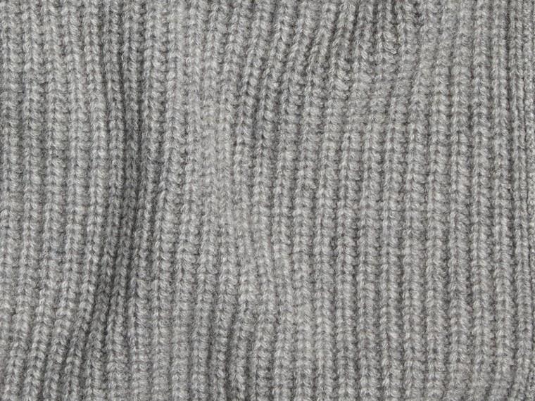 Light grey melange Rib Cashmere Blanket Light Grey Melange - cell image 1