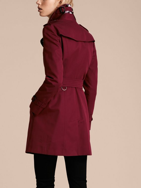 Damson pink Cotton Gabardine Trench Coat Damson Pink - cell image 2
