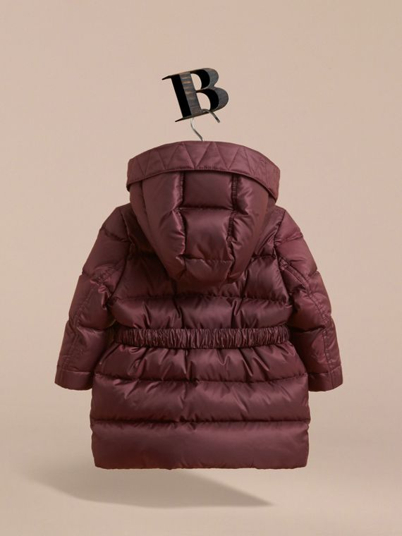 蝴蝶結細節設計羽絨大衣 (暗梅紅) | Burberry - cell image 3