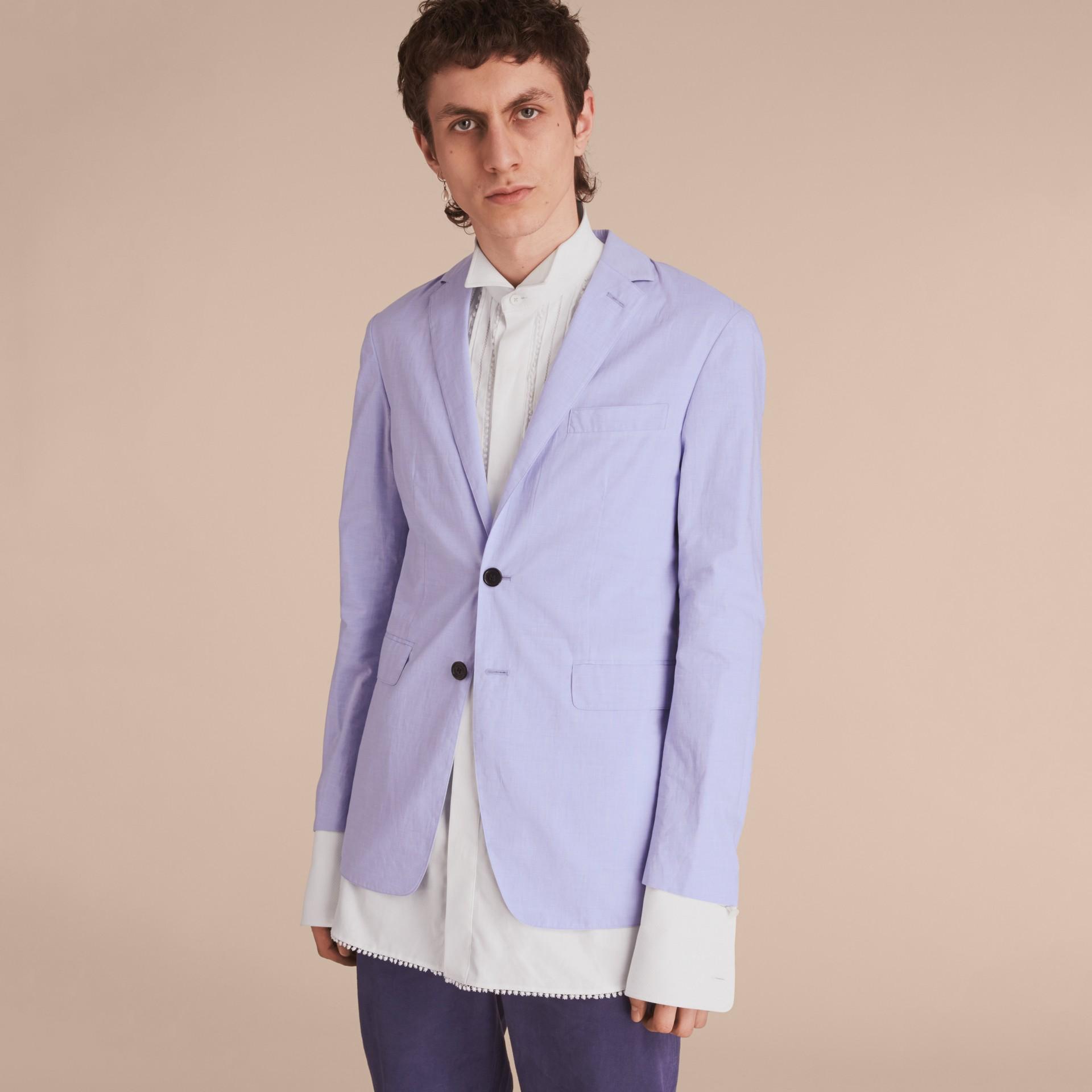 Lightweight Cotton Chambray Blazer - gallery image 6