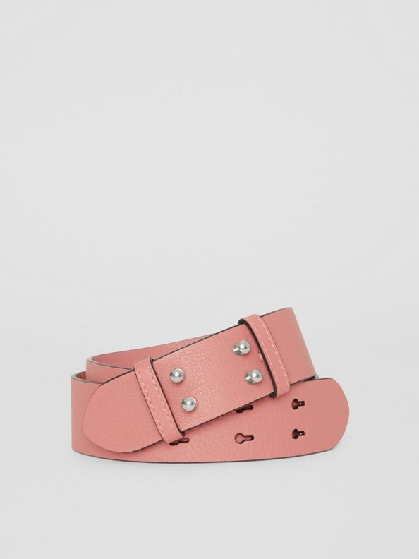 The Small Belt Bag Grainy Leather Belt in Dusty Rose