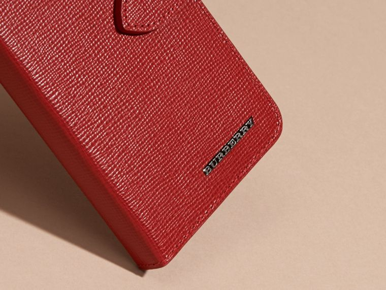 Rosso militare scuro Custodia a libro in pelle London per iPhone 6 - cell image 1