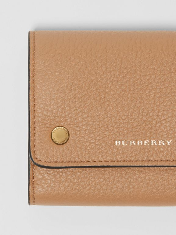 Small Leather Folding Wallet in Light Camel - Women | Burberry - cell image 1