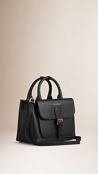 The Small Saddle Bag in Smooth Bonded Leather