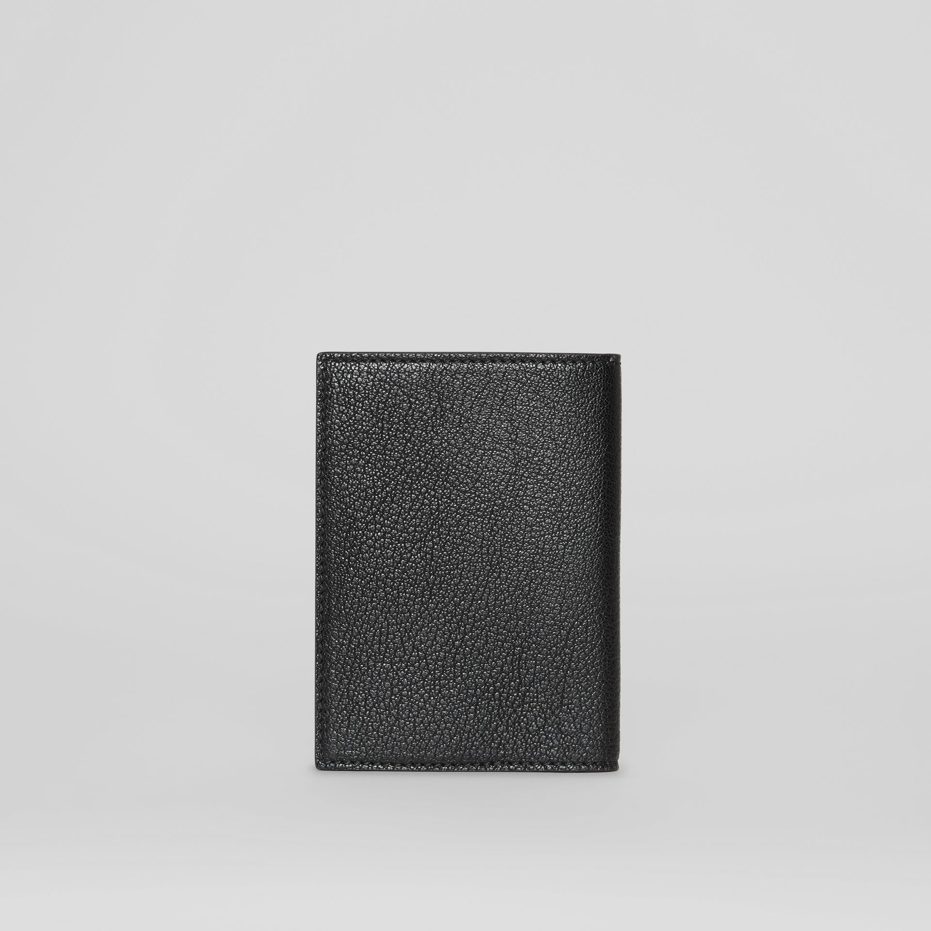 Leather Passport Holder in Black | Burberry - gallery image 4