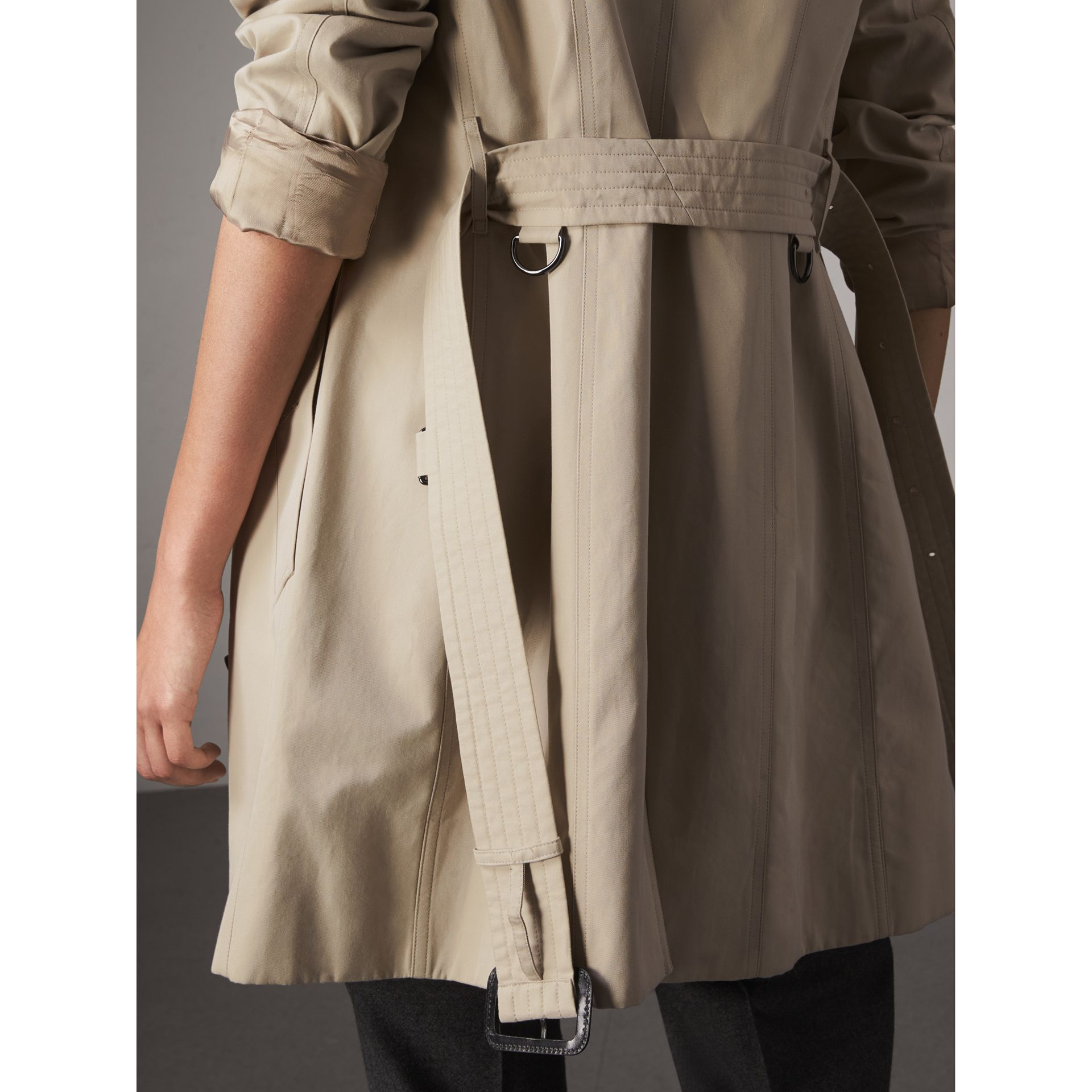 The Sandringham – Mid-Length Heritage Trench Coat in Stone - Women | Burberry - gallery image 6
