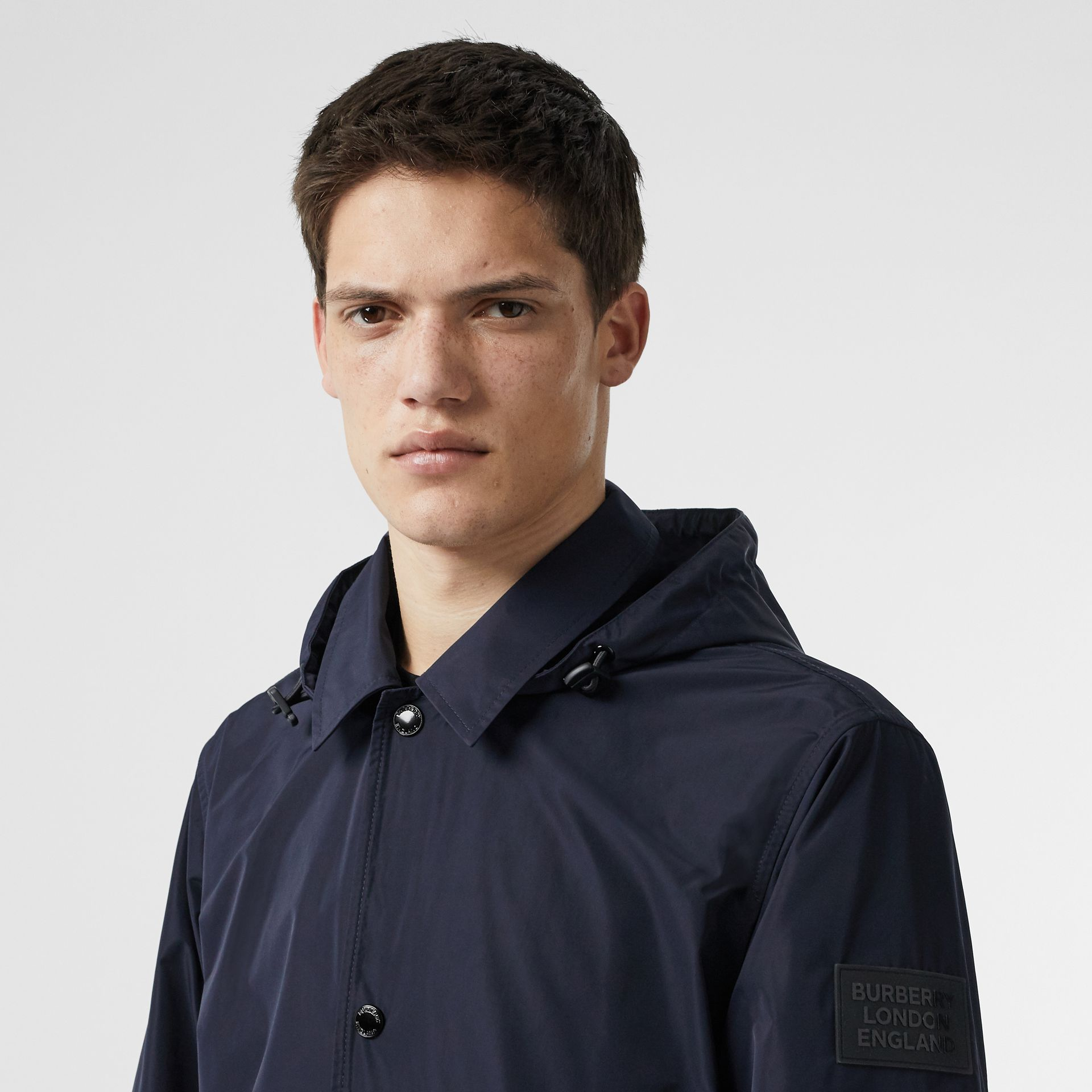 Detachable Hood Shape-memory Taffeta Jacket in Ink - Men | Burberry - gallery image 1