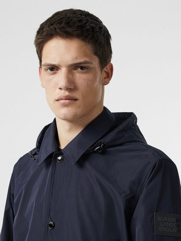 Detachable Hood Shape-memory Taffeta Jacket in Ink - Men | Burberry - cell image 1