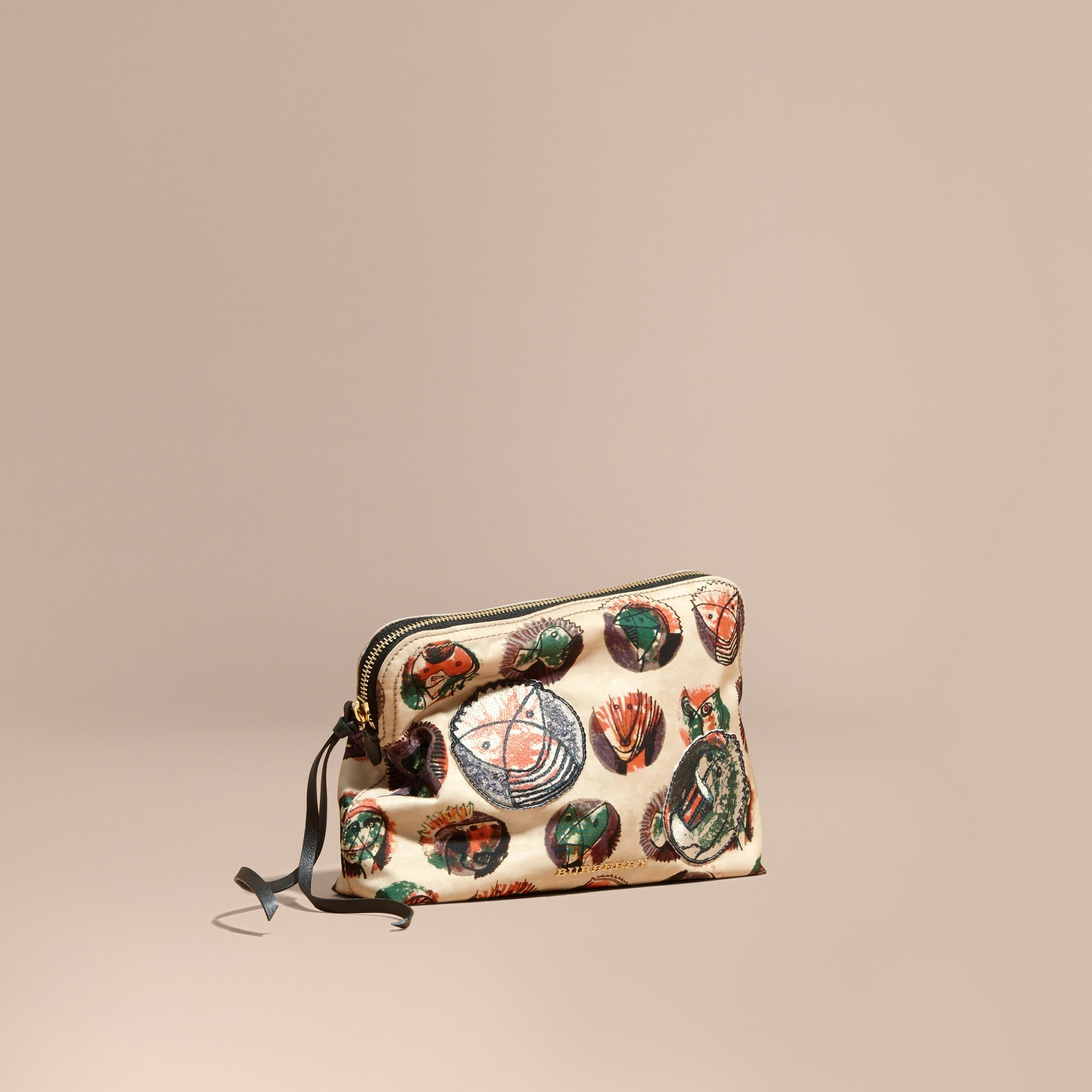 Large Zip-top Pallas Heads Print Pouch - Women | Burberry - gallery image 1