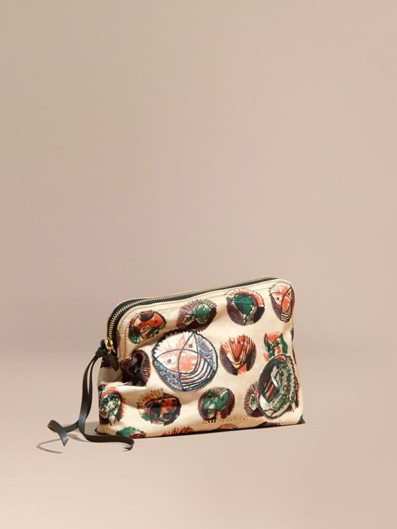 Large Zip-top Pallas Heads Print Pouch