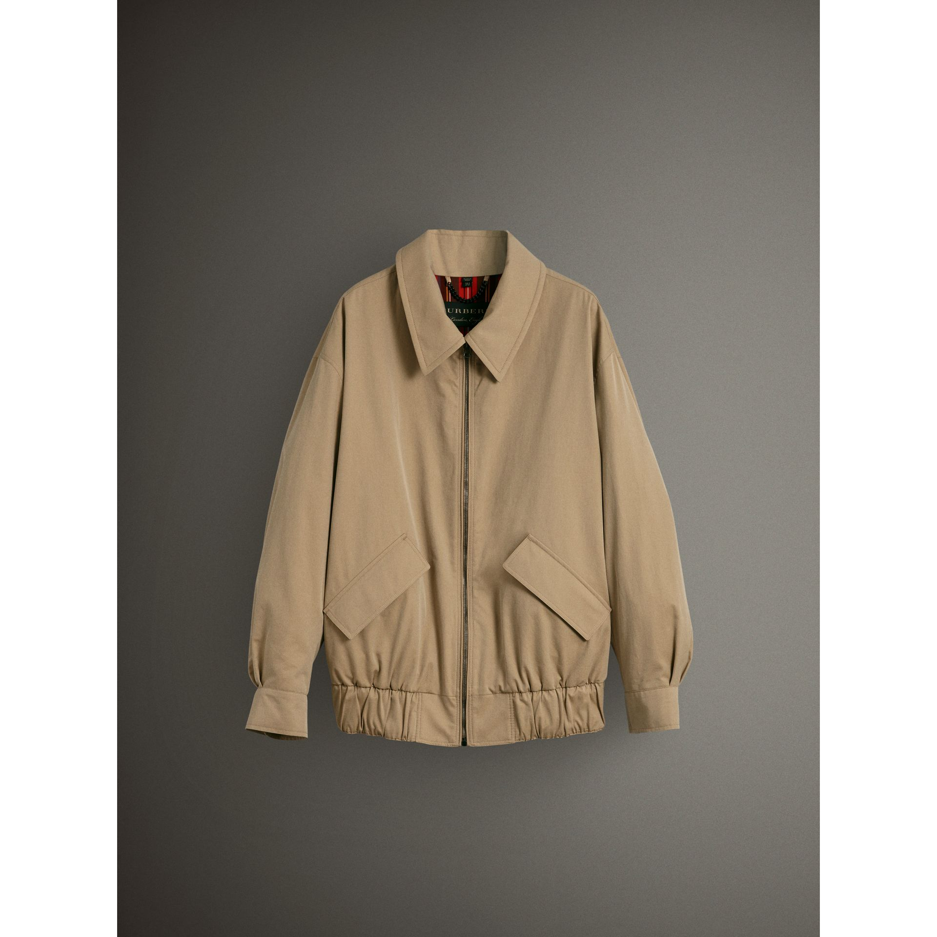 Tropical Gabardine Harrington Jacket in Honey - Women | Burberry United Kingdom - gallery image 3