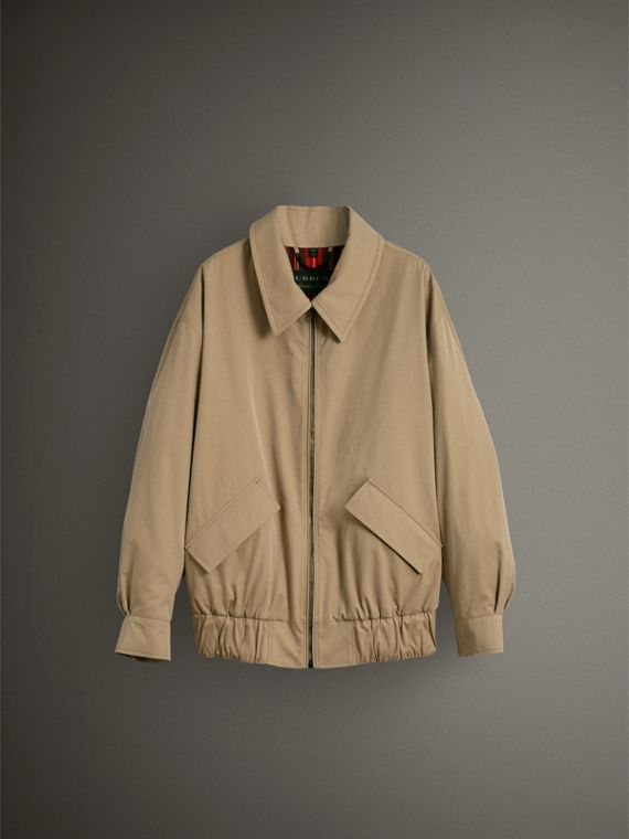 Tropical Gabardine Harrington Jacket in Honey - Women | Burberry United Kingdom - cell image 3