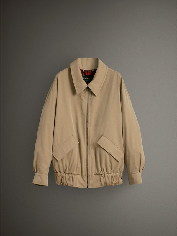 Tropical Gabardine Harrington Jacket in Honey - Women | Burberry - cell image 3