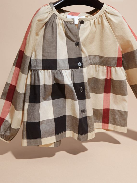 New classic check Puff Sleeve Check Cotton Blouse New Classic - cell image 2