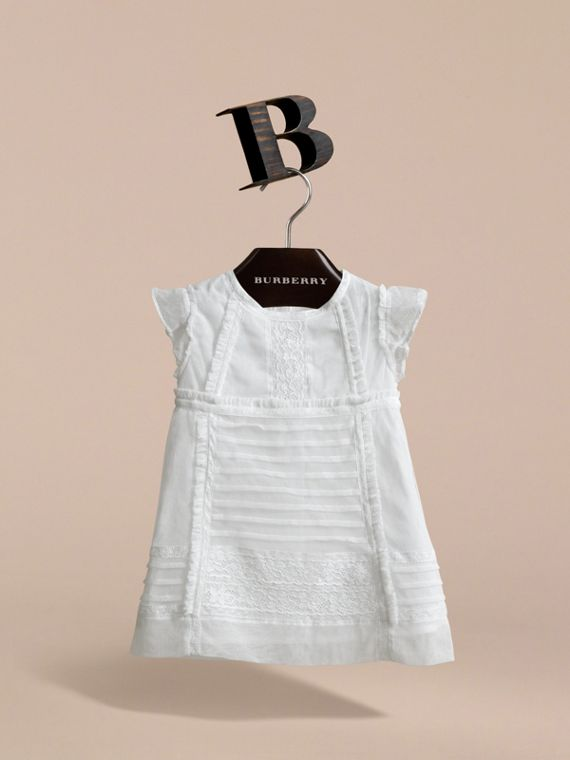 Lace and Cotton Tulle Dress with Bloomers - Children | Burberry - cell image 2