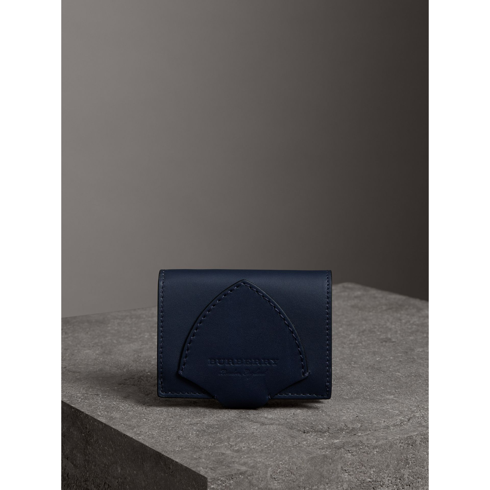 Equestrian Shield Leather Continental Wallet in Mid Indigo - Women | Burberry United Kingdom - gallery image 4