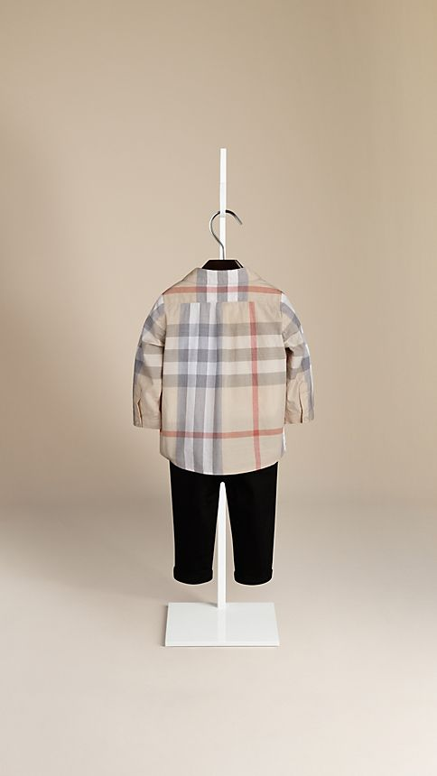Pale classic check Washed Check Cotton Shirt - Image 2