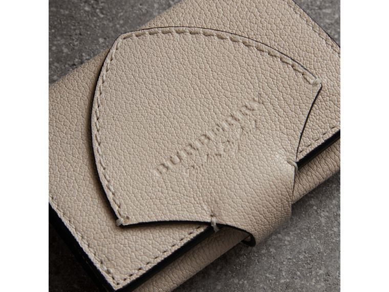Equestrian Shield Two-tone Leather Folding Wallet in Stone - Women | Burberry United Kingdom - cell image 1