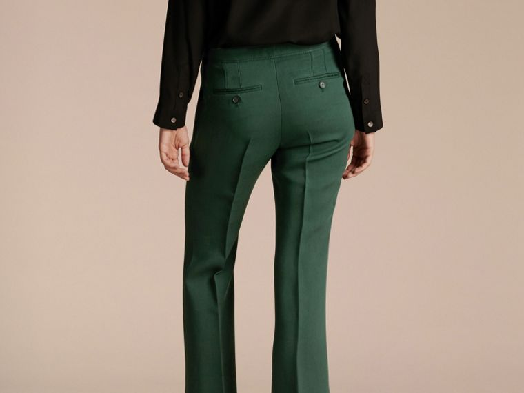Deep green Cropped Tailored Trousers Deep Green - cell image 1