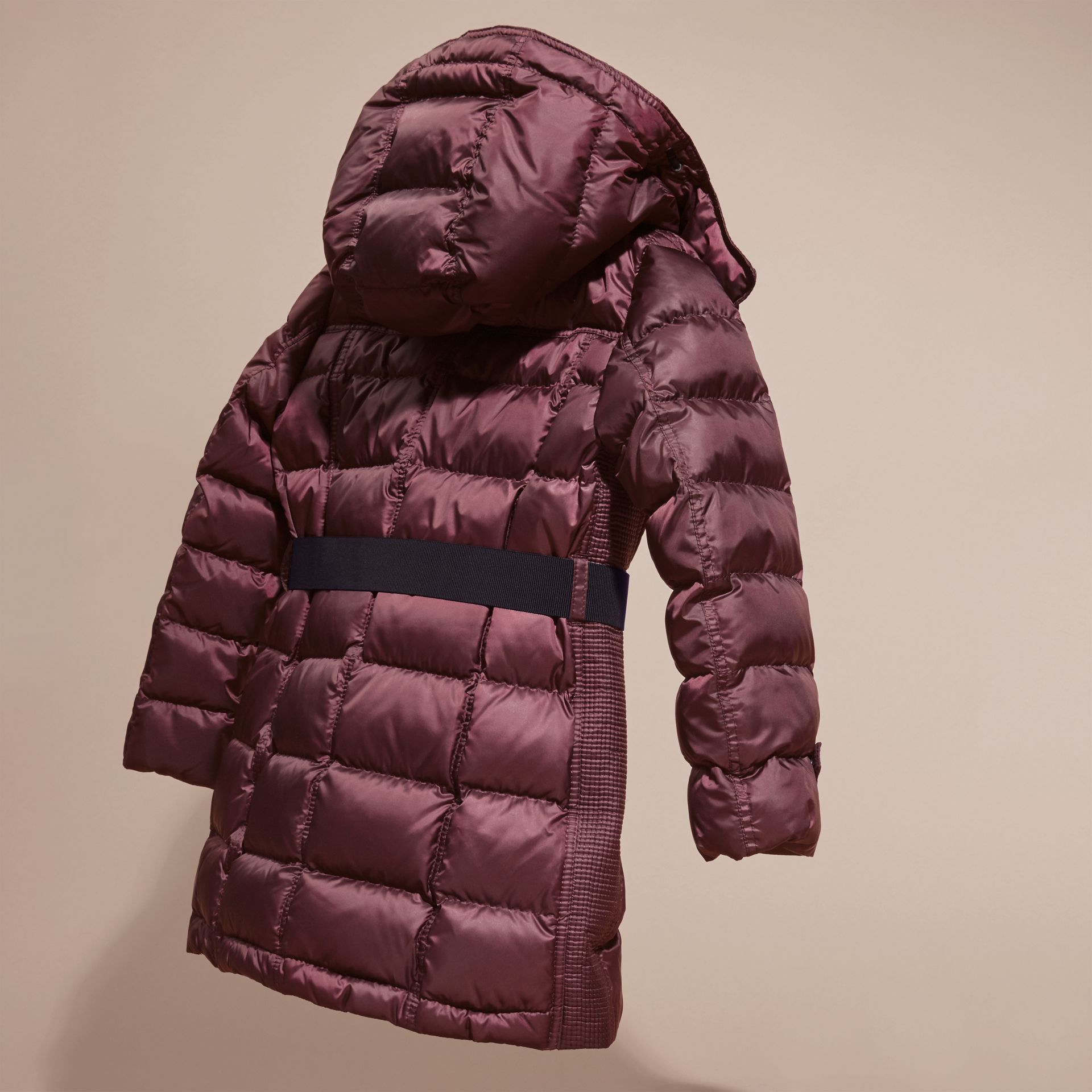 Beetroot Showerproof Puffer Coat - gallery image 4