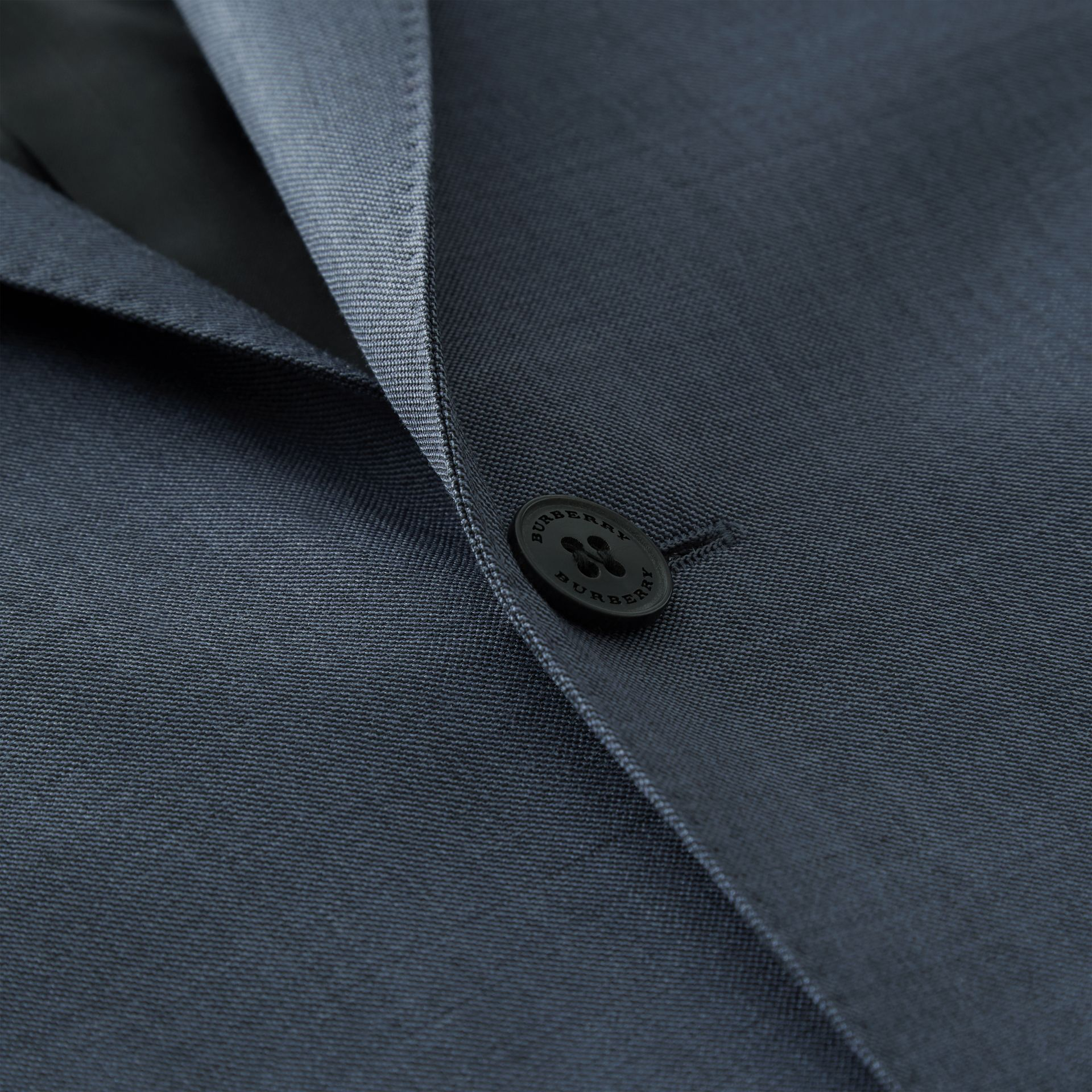 Classic Fit Wool Mohair Silk Suit in Steel Blue - Men | Burberry - gallery image 9