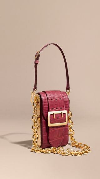 The Buckle Bag – Oblong in Alligator