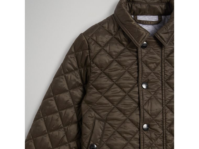 Lightweight Diamond Quilted Jacket in Oregano - Boy | Burberry - cell image 4
