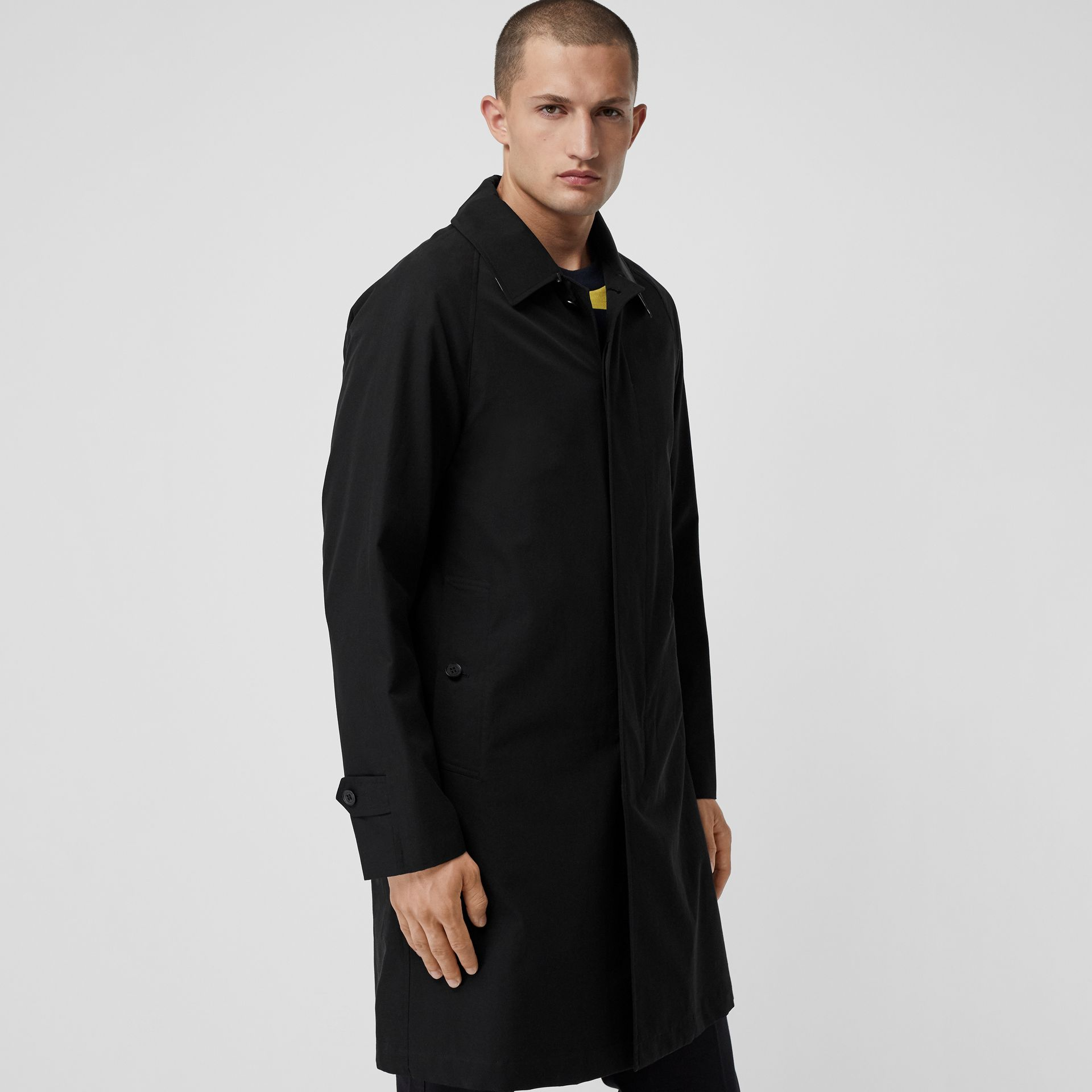The Camden Car Coat in Black - Men | Burberry - gallery image 5
