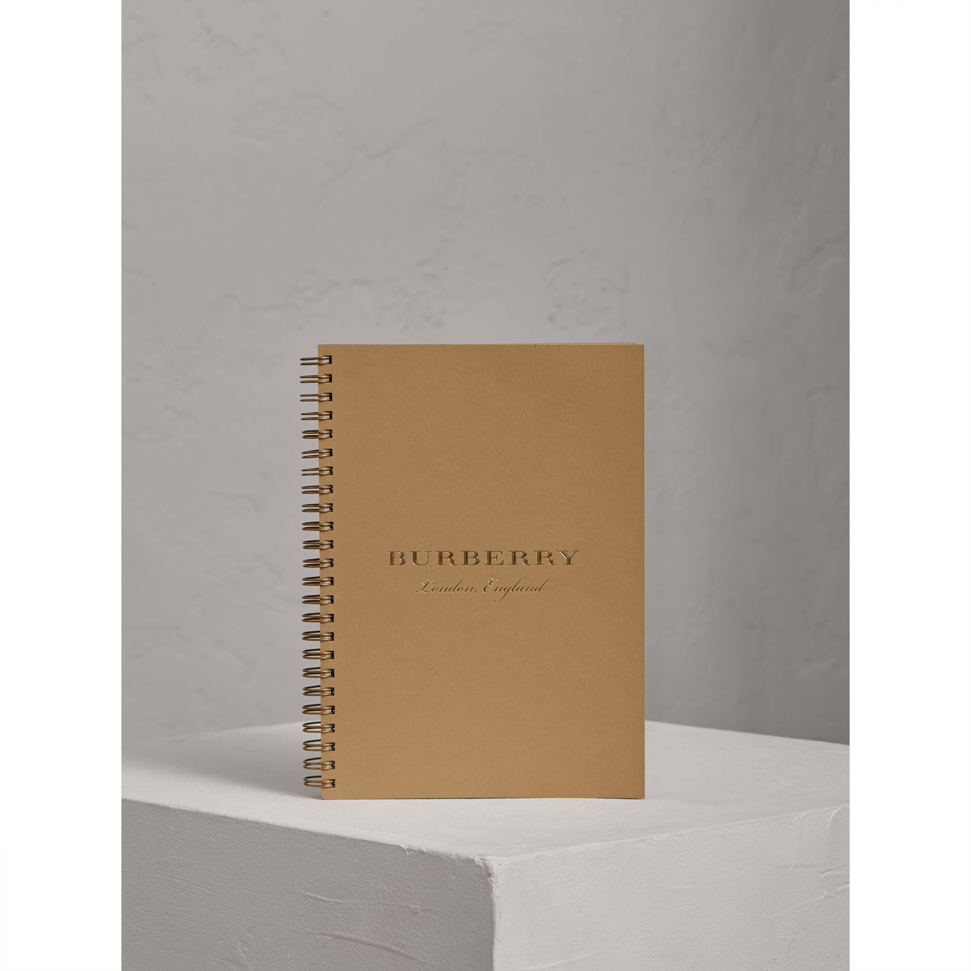 A5 Notebook Refill in Honey | Burberry United Kingdom - gallery image 0