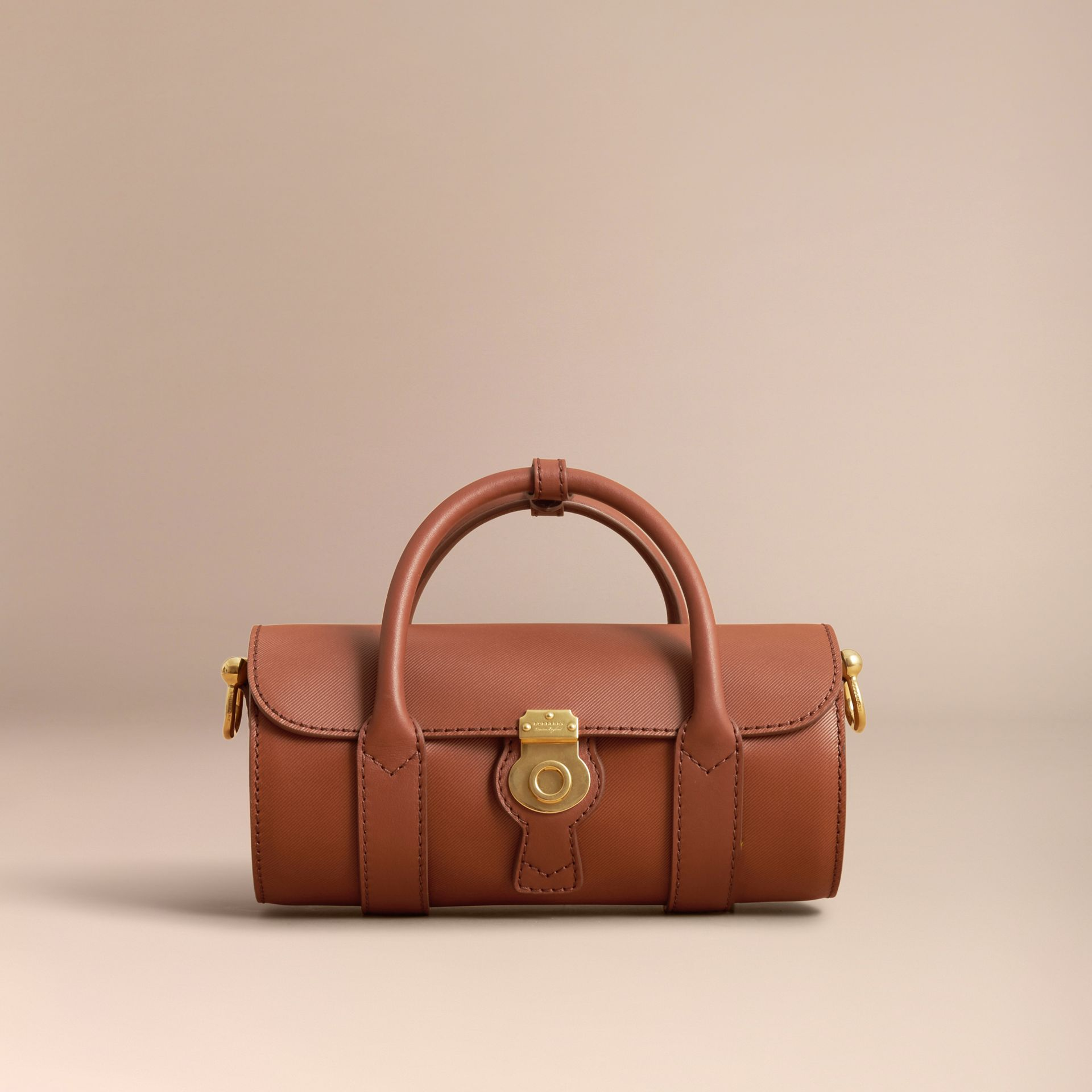 The Small DK88 Barrel Bag in Tan - Women | Burberry - gallery image 7