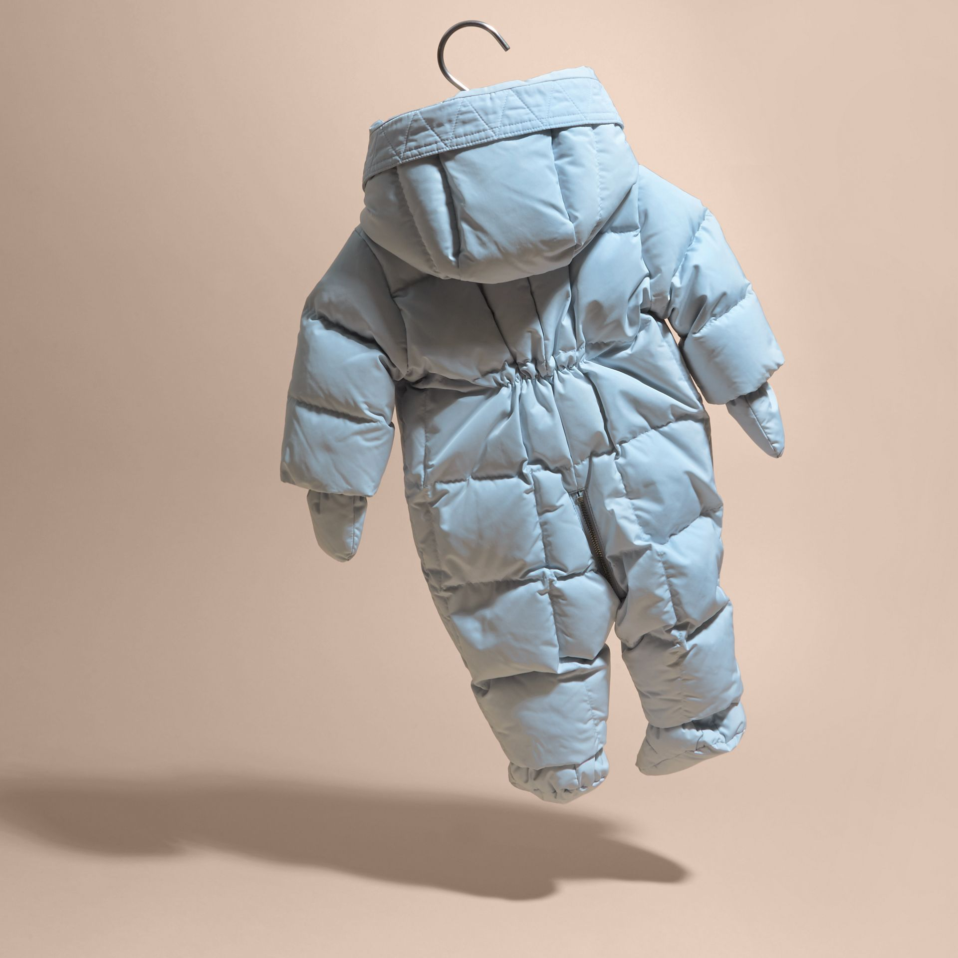 Ice blue Down-filled Puffer Suit Ice Blue - gallery image 4