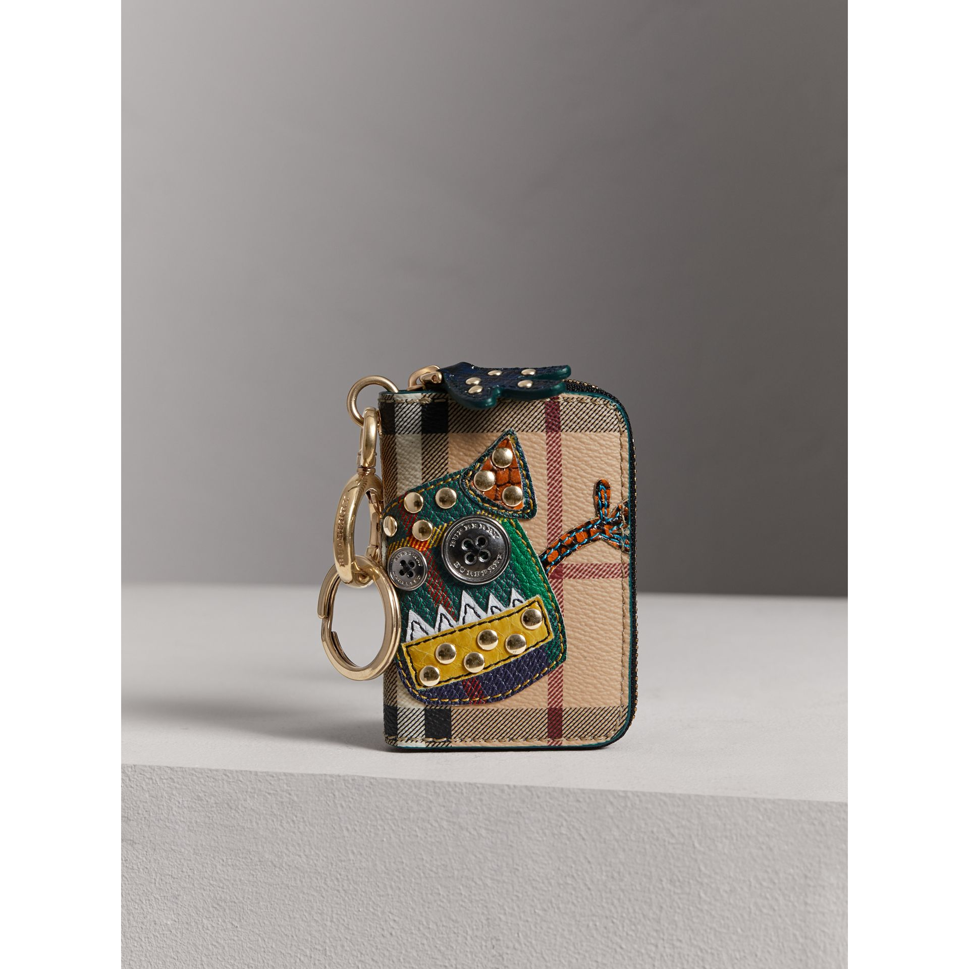 Creature Appliqué Haymarket Check Notebook Charm | Burberry - gallery image 4
