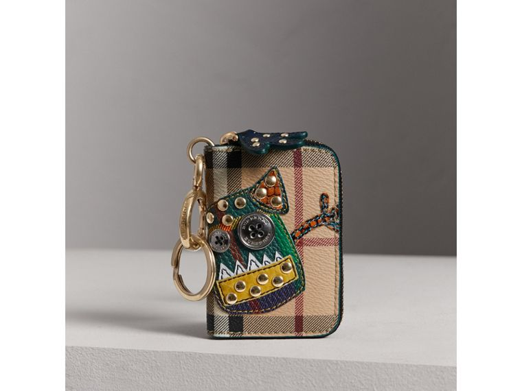 Creature Appliqué Haymarket Check Notebook Charm | Burberry - cell image 4