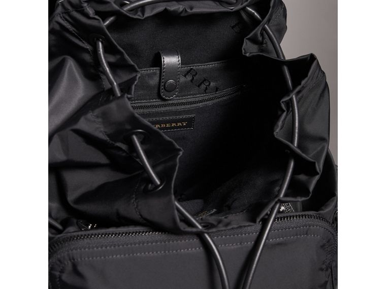 The Extra Large Rucksack in Technical Nylon and Leather in Black - Men | Burberry Australia - cell image 4