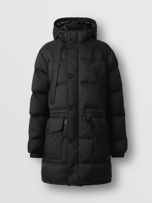 Hooded Puffer Coat in Black - Men | Burberry - cell image 3